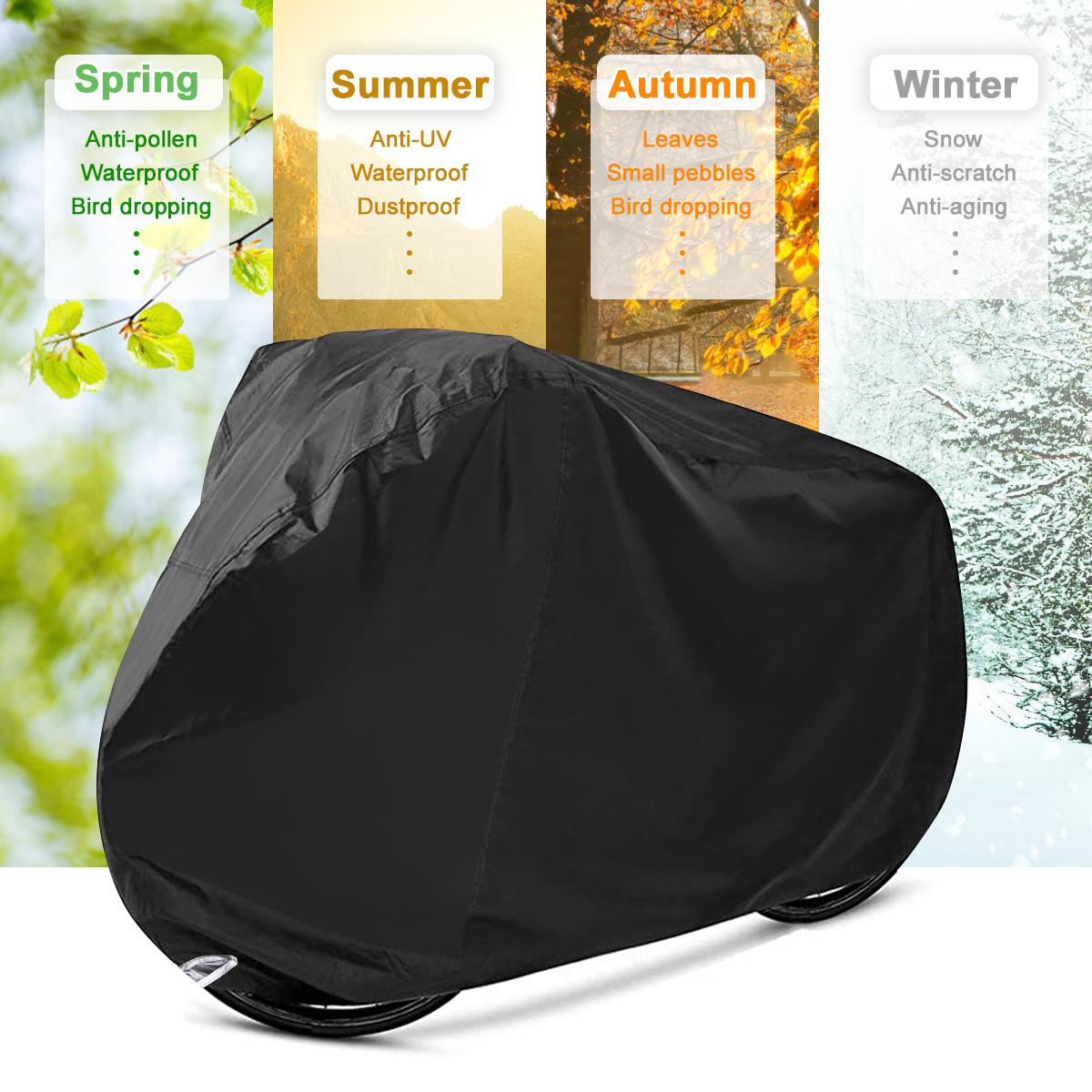 Audew Bike Cover For 2 3 Bikes Waterproof Outdoor Bicycle Oxford Fabric Rain Sun