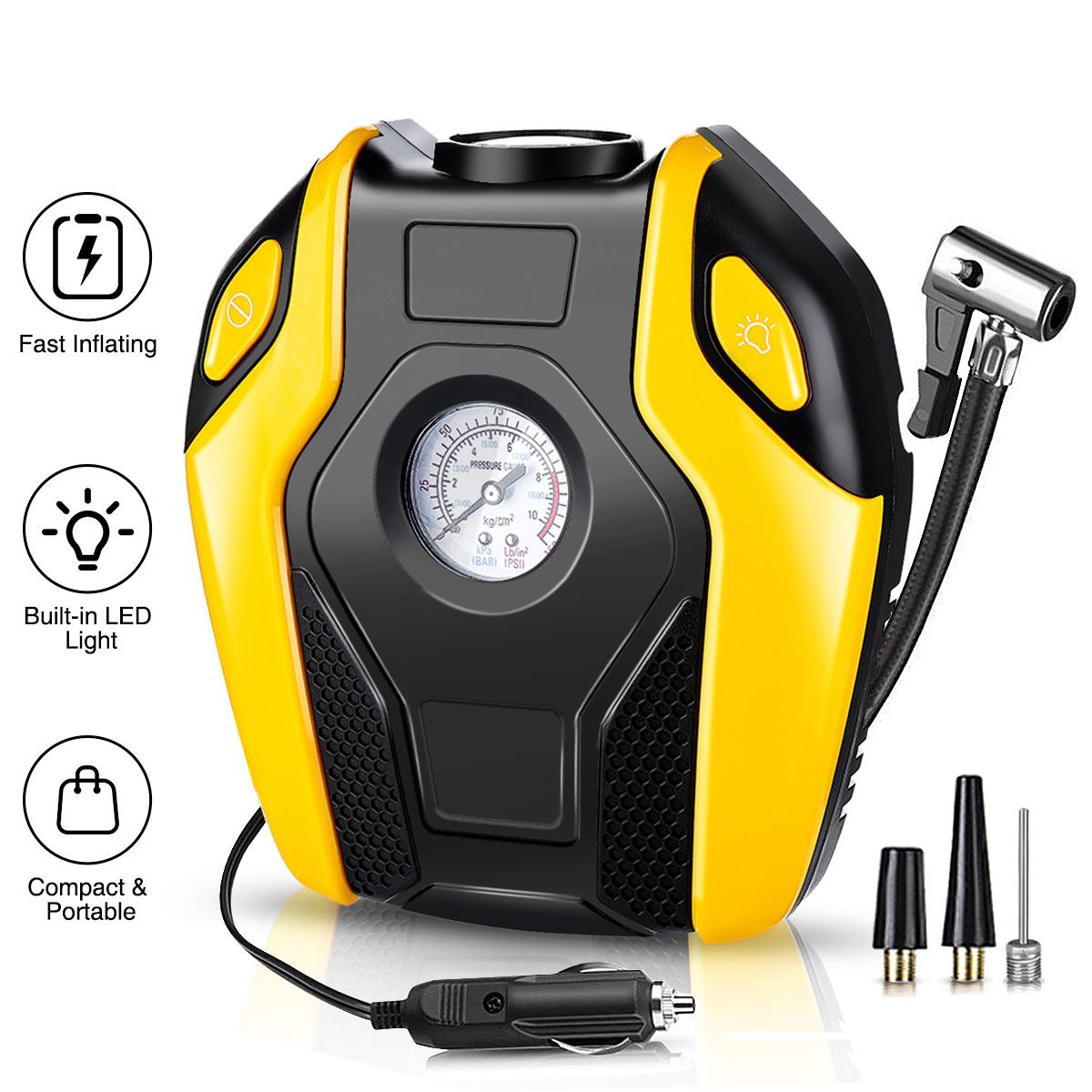 Цифровой портативный электрический воздушный насос для шин автомобиля 150psi 120В
