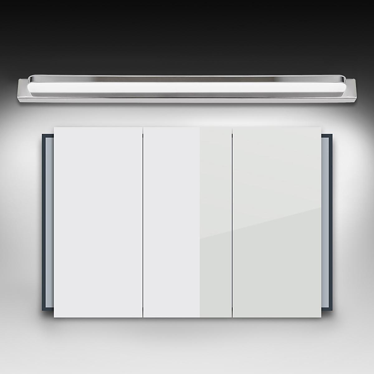 TEMPSA 25cm Lampe Miroir LED Murale Anti buée Etanche Pour Salle de bains Lumière Blanche Moderne Acrylique Phare 3W