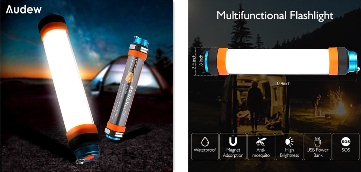 Audew Multi-function Flashlight Mini Portable, Illumination for Vehicle Repair