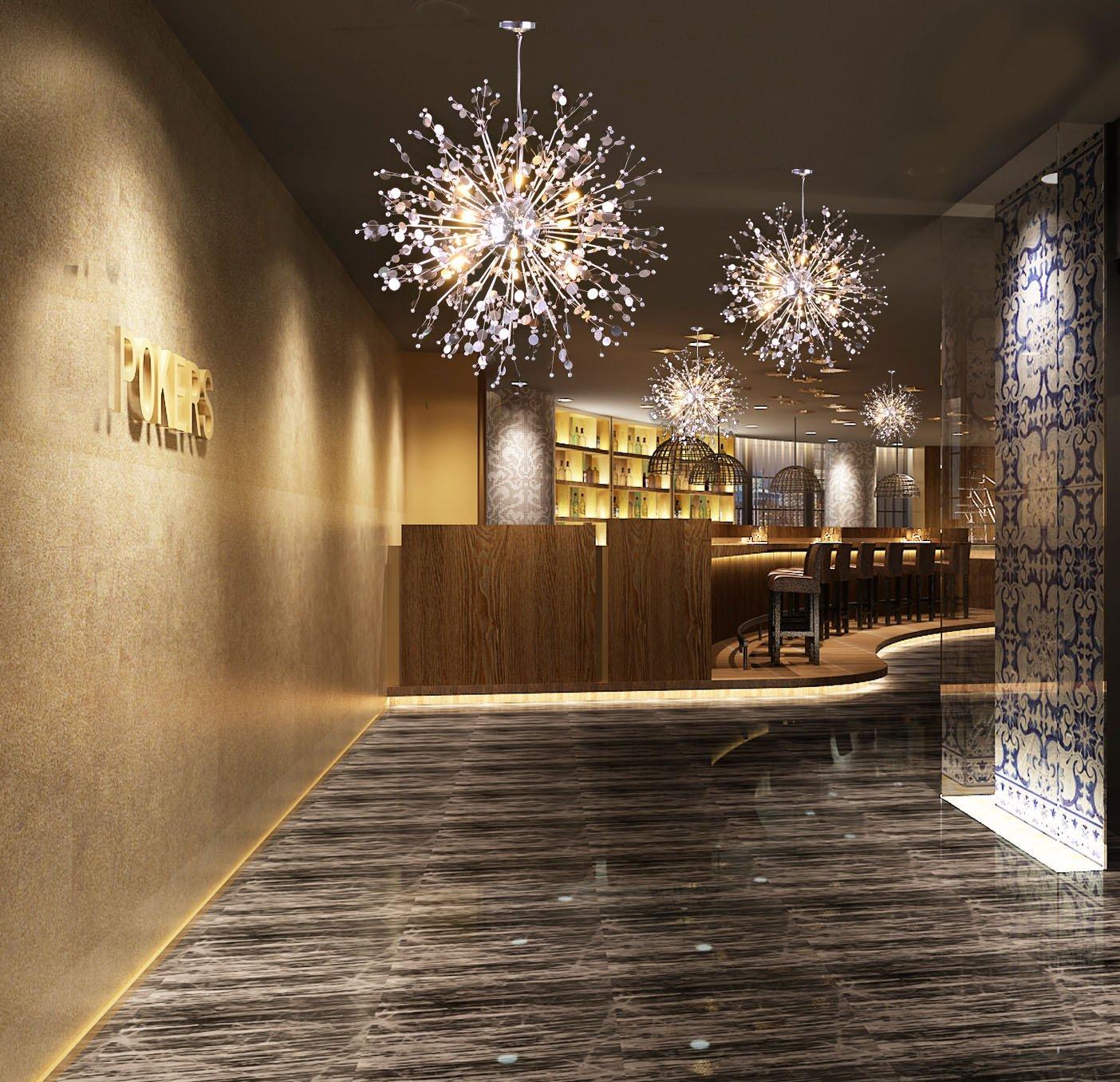 Eclairage Plafond A La Francaise neufu lustre pissenlit fleur suspension cristal lampe