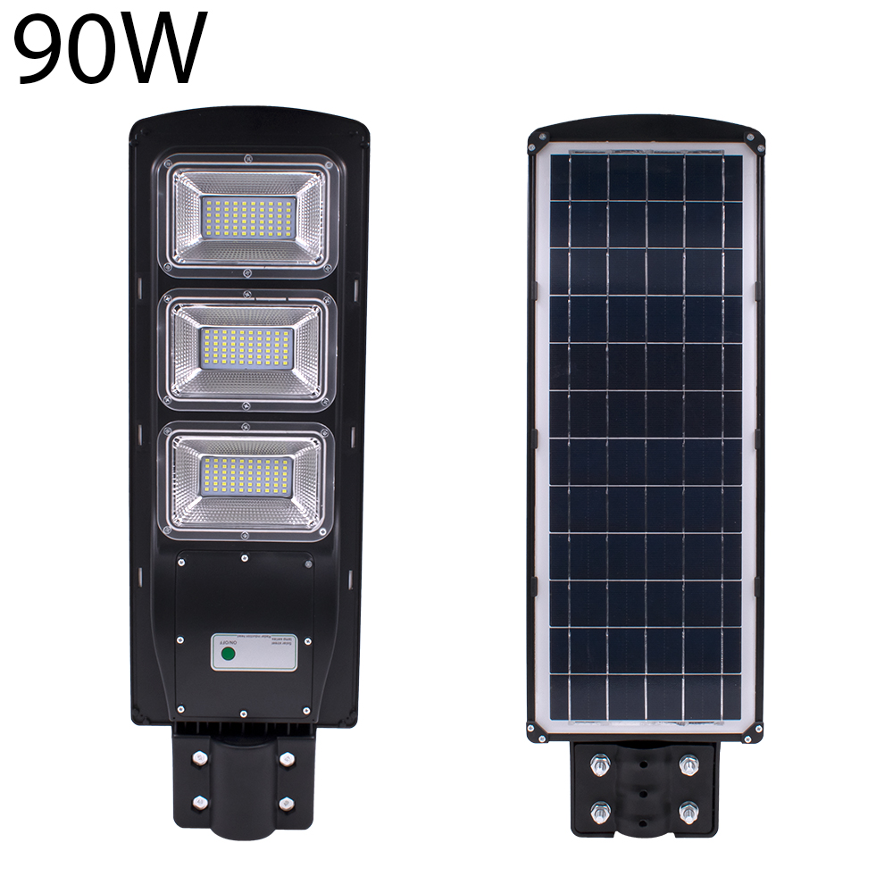 Lampe Energie Solaire Interieur 90w 180led projecteur exterieur lampe solaire jardin rue