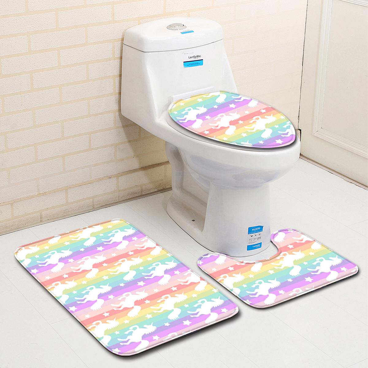 Salle De Bains Toilettes Difference ~ tempsa kit 3pcs tapis de toilette antid rapant pour salle de bain