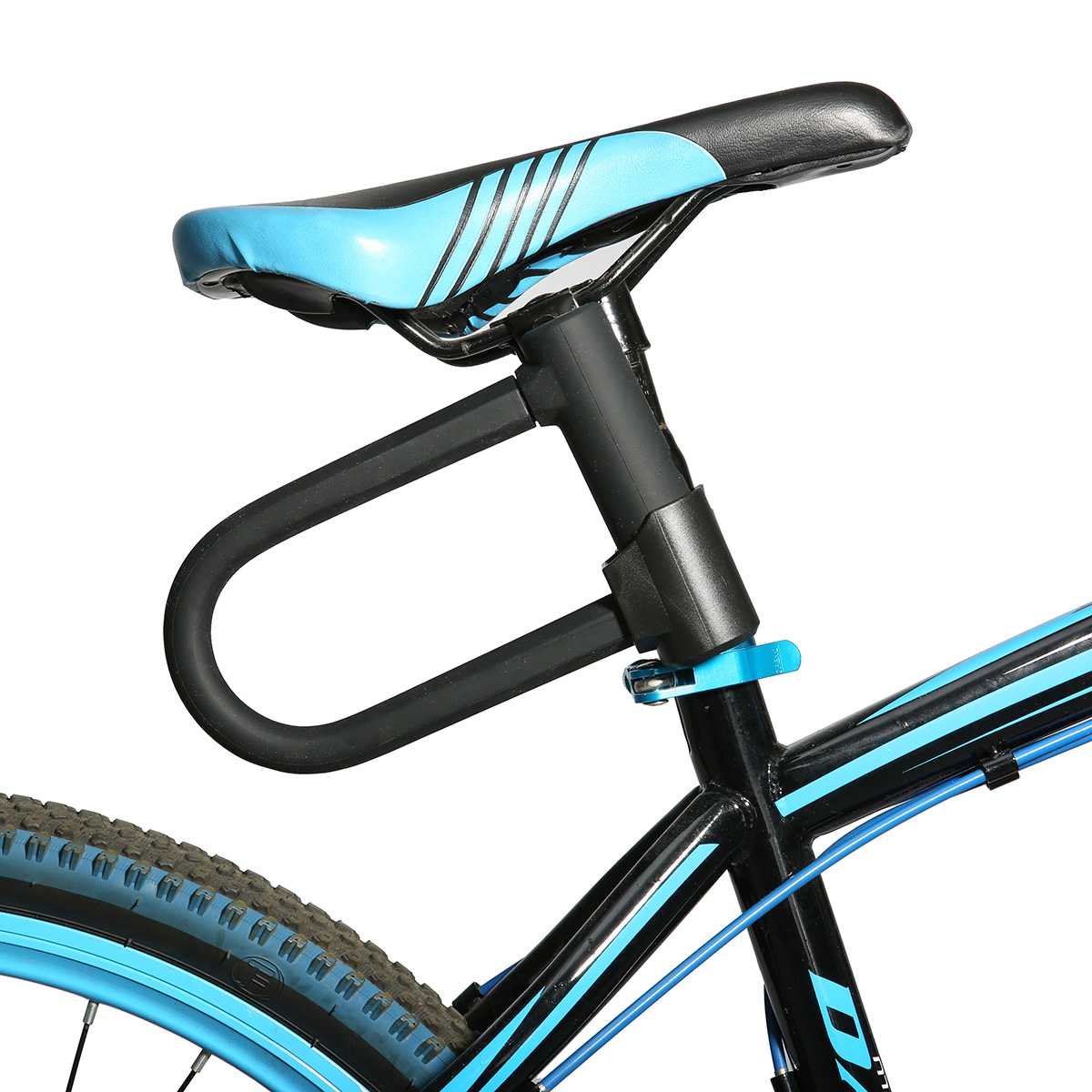 U shaped steel bicycle lock