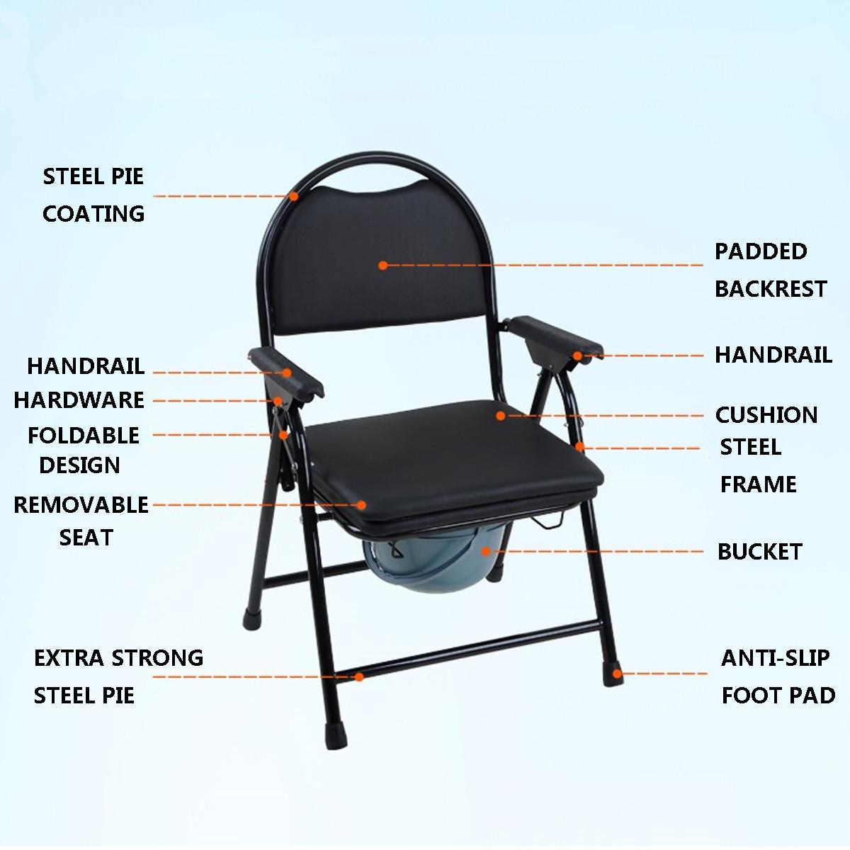 1 X Chaise De Toilette Pliable