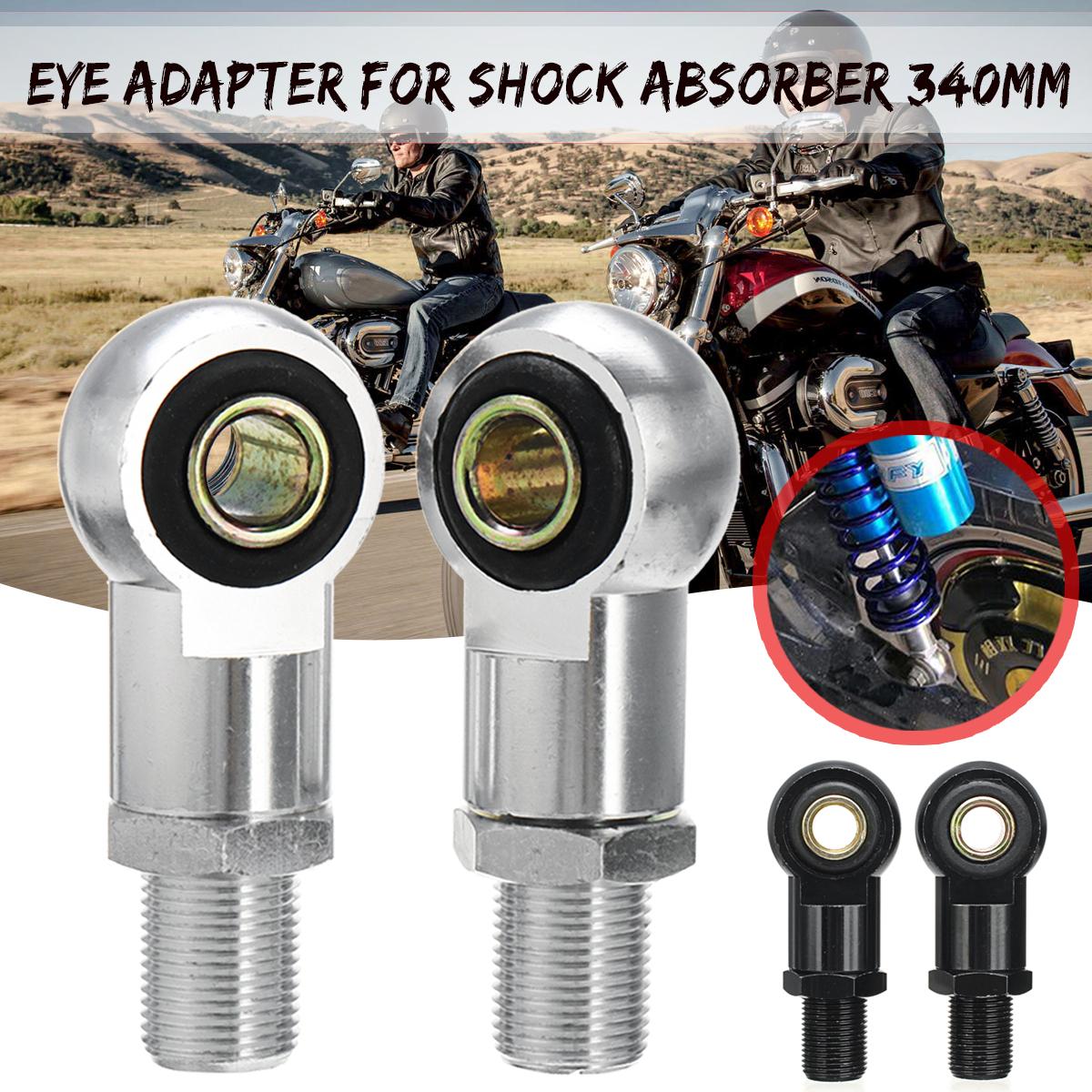 Noir C-FUNN 10Mm Eye Adaptateur Eye End pour Amortisseur 340Mm Moto Scooter ATV