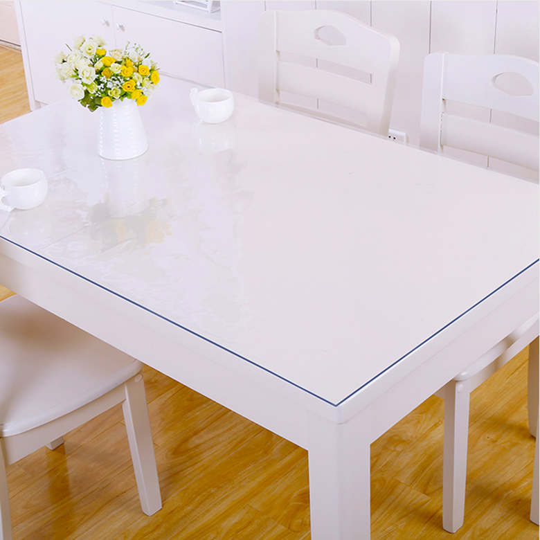 Table film Nappe de Table Protection Pvc largeur 80 cm Transparent 1,6 mm
