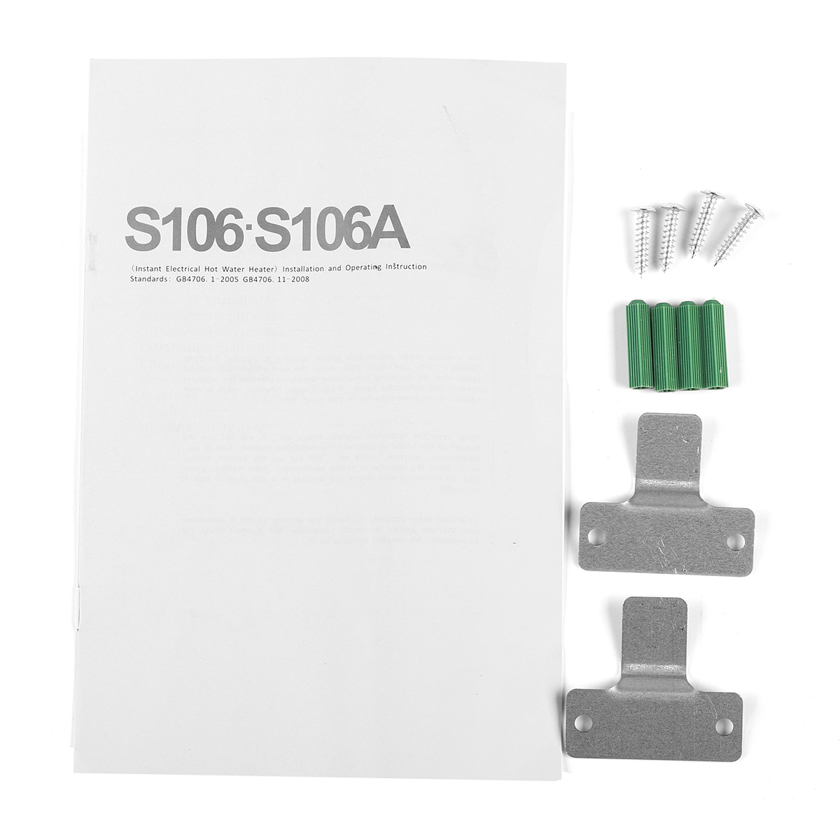 Buy Universal 65kw 220v Electric Tankless Water Heater Instant Hot Shower Wiring Diagram 1 X Nozzle Outlet Pipe Set Of Accessaries English User Manual