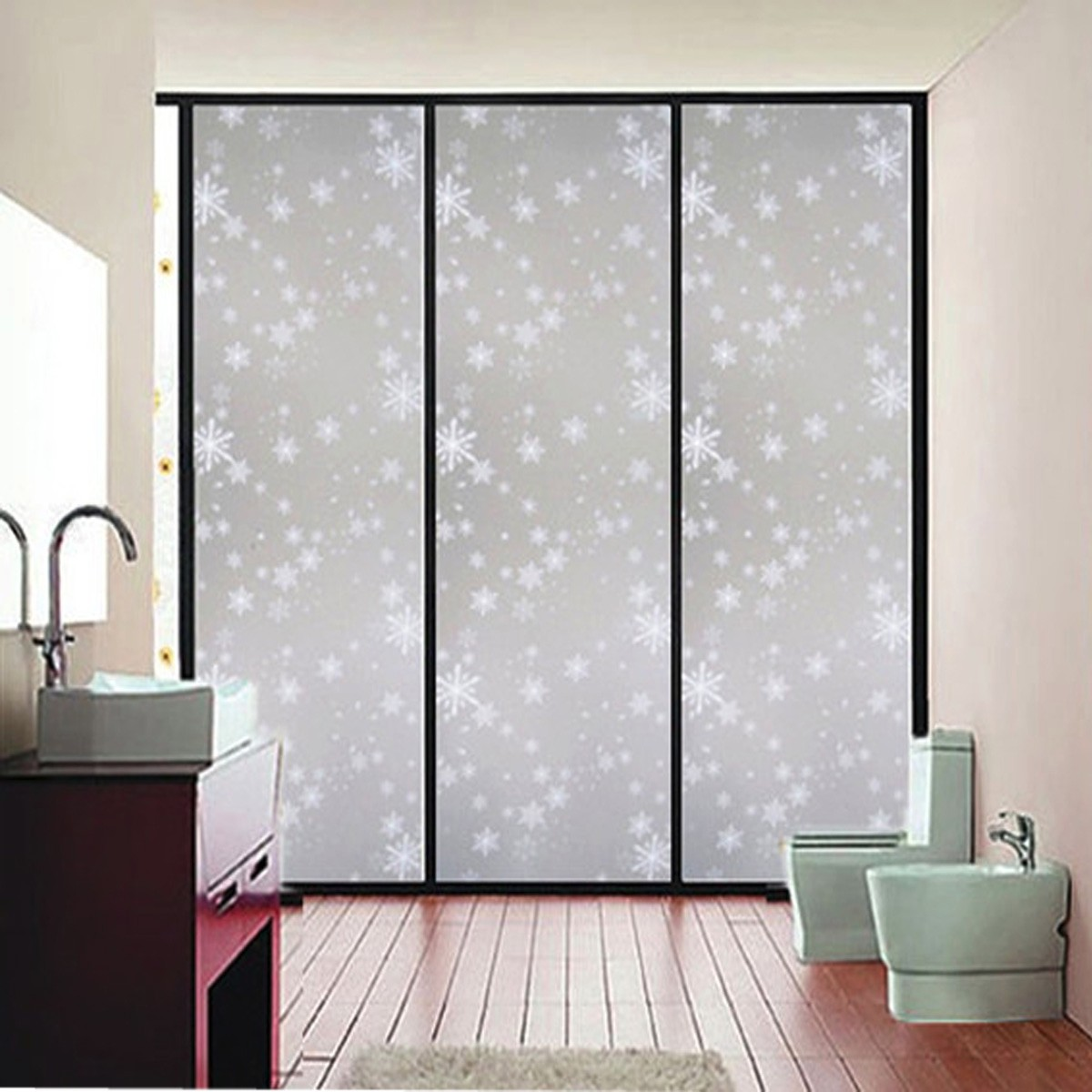 45x200cm waterproof frosted privacy bedroom bathroom for Opaque glass for bathroom windows