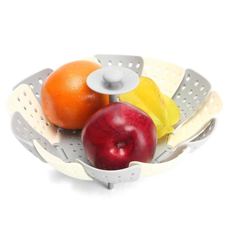 Fashion Folding Steamer Basket Fruit Vegetable Plate