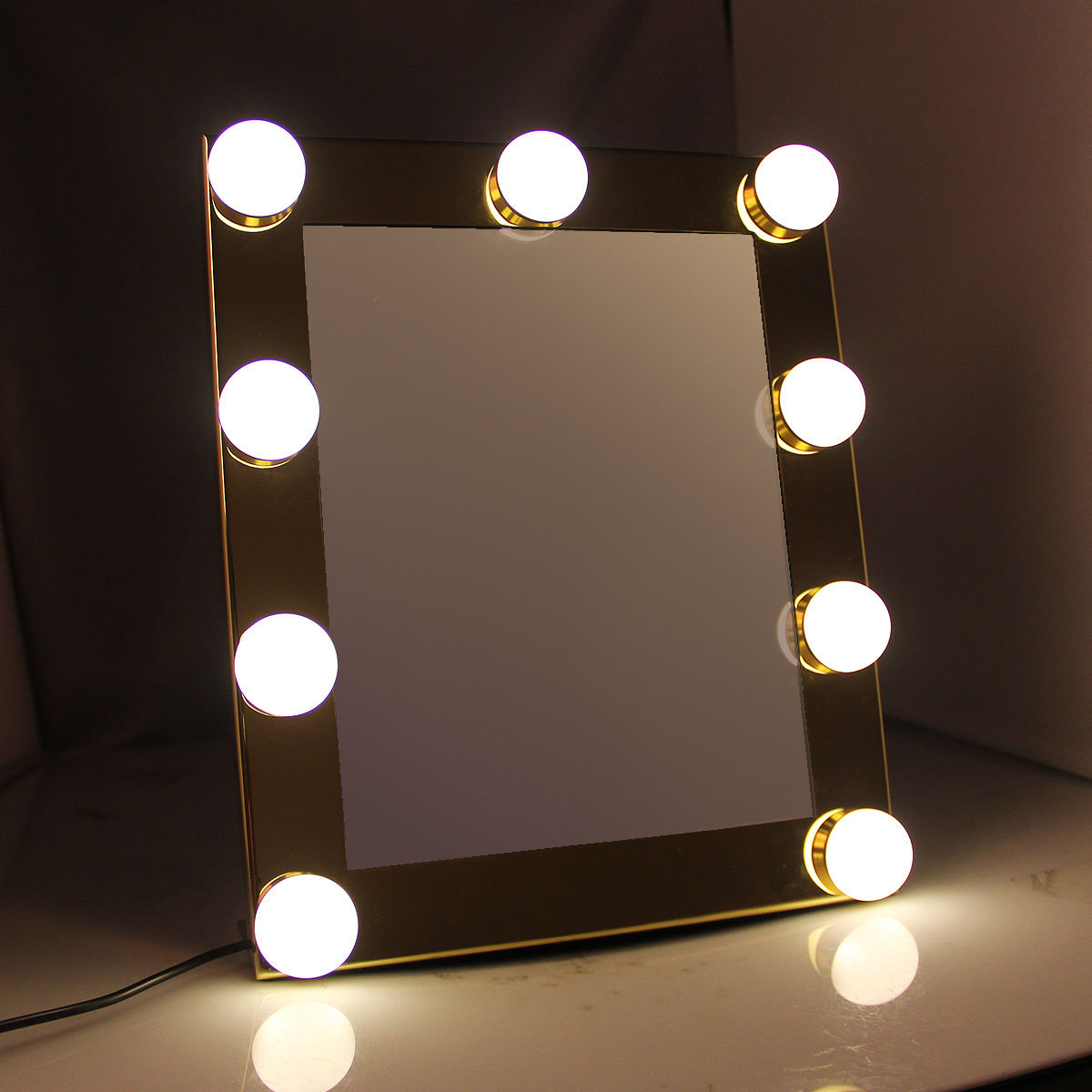 Miroir de maquillage cran tactile 9leds hollywood clair for Miroir des 7 astres