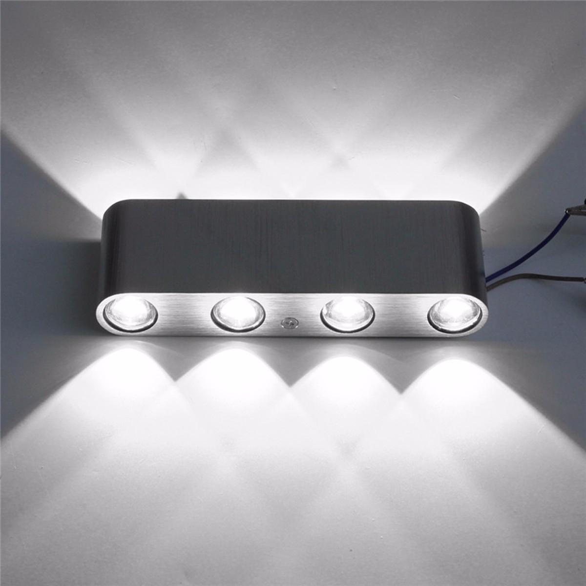 led lampe applique murale ampoule 8w eclairage mur maison d cor couloir. Black Bedroom Furniture Sets. Home Design Ideas