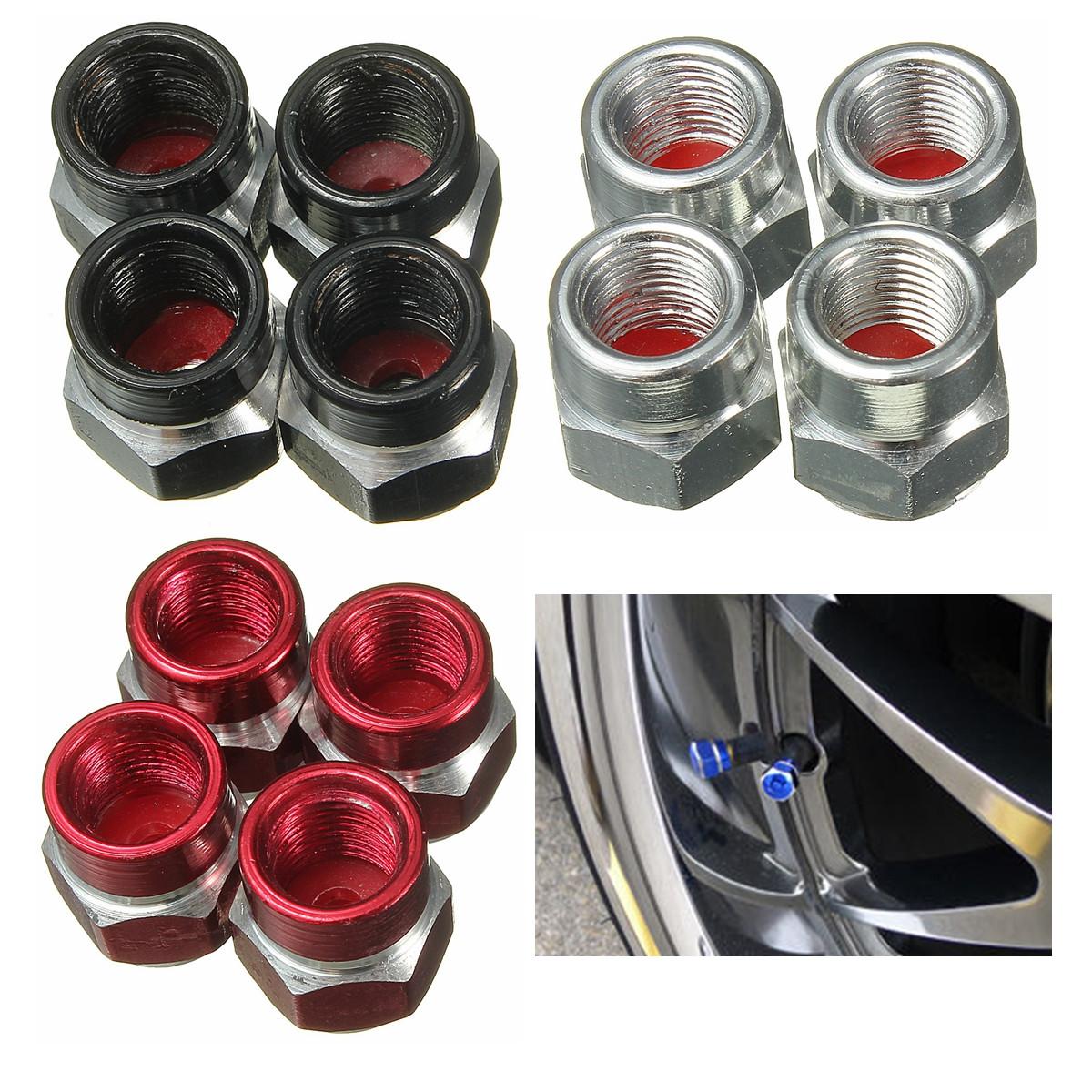 4pcs bouchon valve pneu cap pour moto voiture v lo pneu camion anti poussi re or achat vente. Black Bedroom Furniture Sets. Home Design Ideas