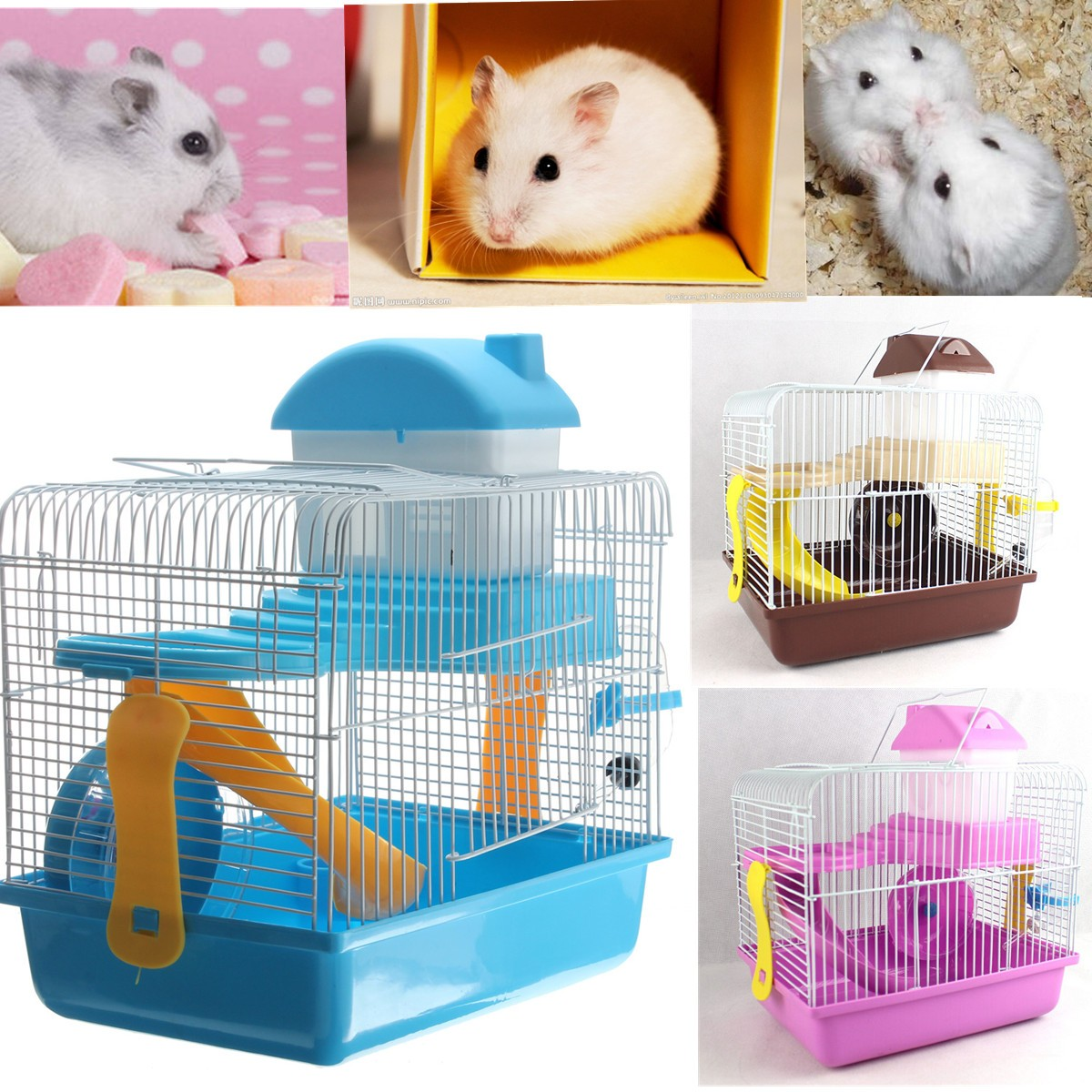 new cage hamster rongeur souris gerbille ratatouille petit. Black Bedroom Furniture Sets. Home Design Ideas