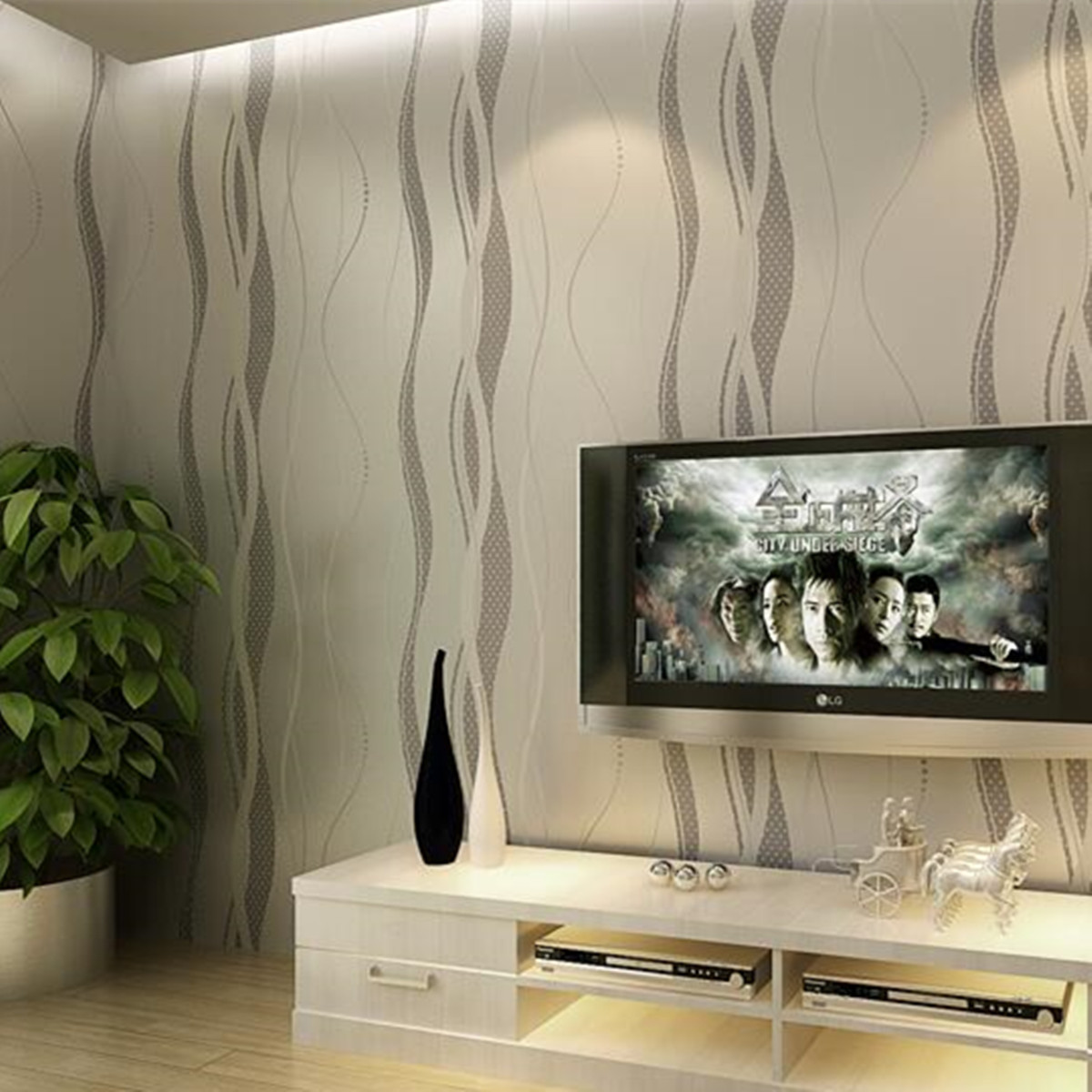 papier peint murale mur 3d courbe stripe tissu non tiss d cor chambre achat vente. Black Bedroom Furniture Sets. Home Design Ideas