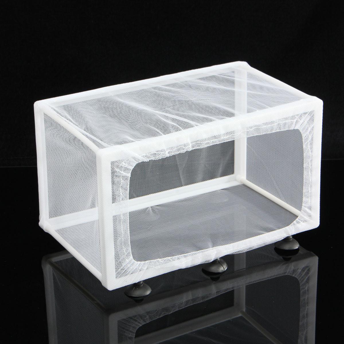 Aquarium fish tank fry net breeder breeding hatchery - 1 X Aquarium Net Breeder 1 X White Polyester Net 6 X Suction Cups