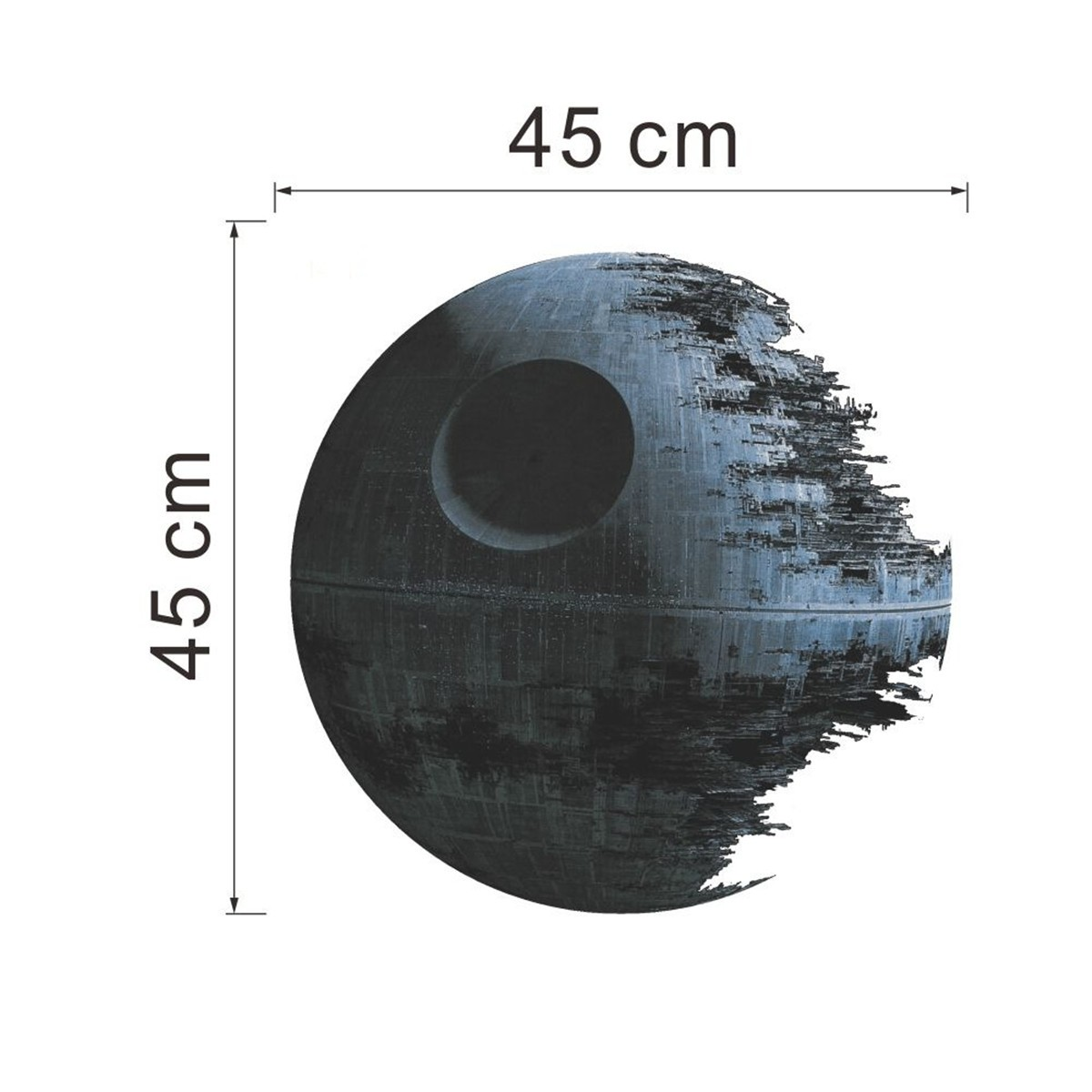 45 45cm stickers muraux amovible death star wars for Miroir magique au mur