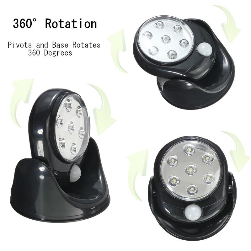 led motion activated cordless sensor light indoor outdoor. Black Bedroom Furniture Sets. Home Design Ideas
