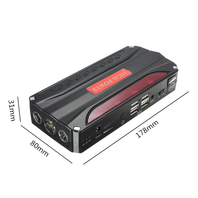 68800mah 12v jump starter booster voiture urgence chargeur d marrage batterie. Black Bedroom Furniture Sets. Home Design Ideas