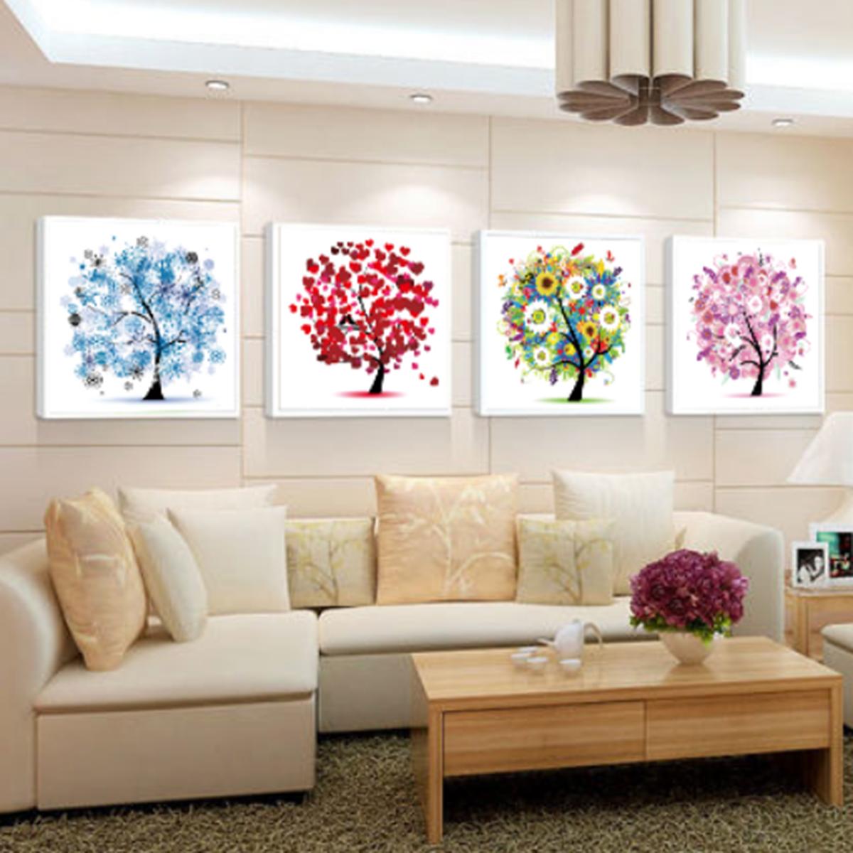 tempsa 5d diamant tableau peinture arbre broderie croix toile art d cor murale sans cadre hiver. Black Bedroom Furniture Sets. Home Design Ideas
