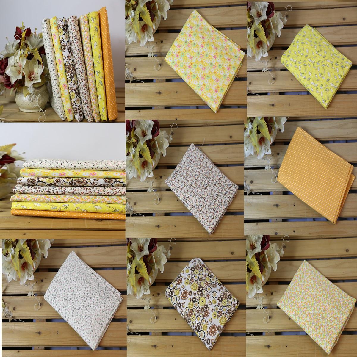 7pcs coton tissu patchwork coupons carreaux joli assorti diy couture 25x25cm - Tissus patchwork soldes ...