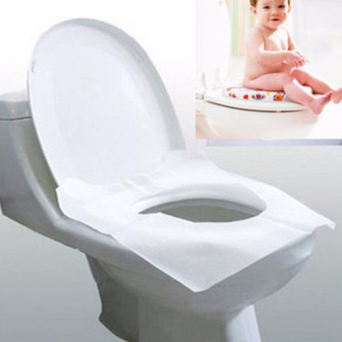 10pcs disposable toilet seat covers hygienic protection