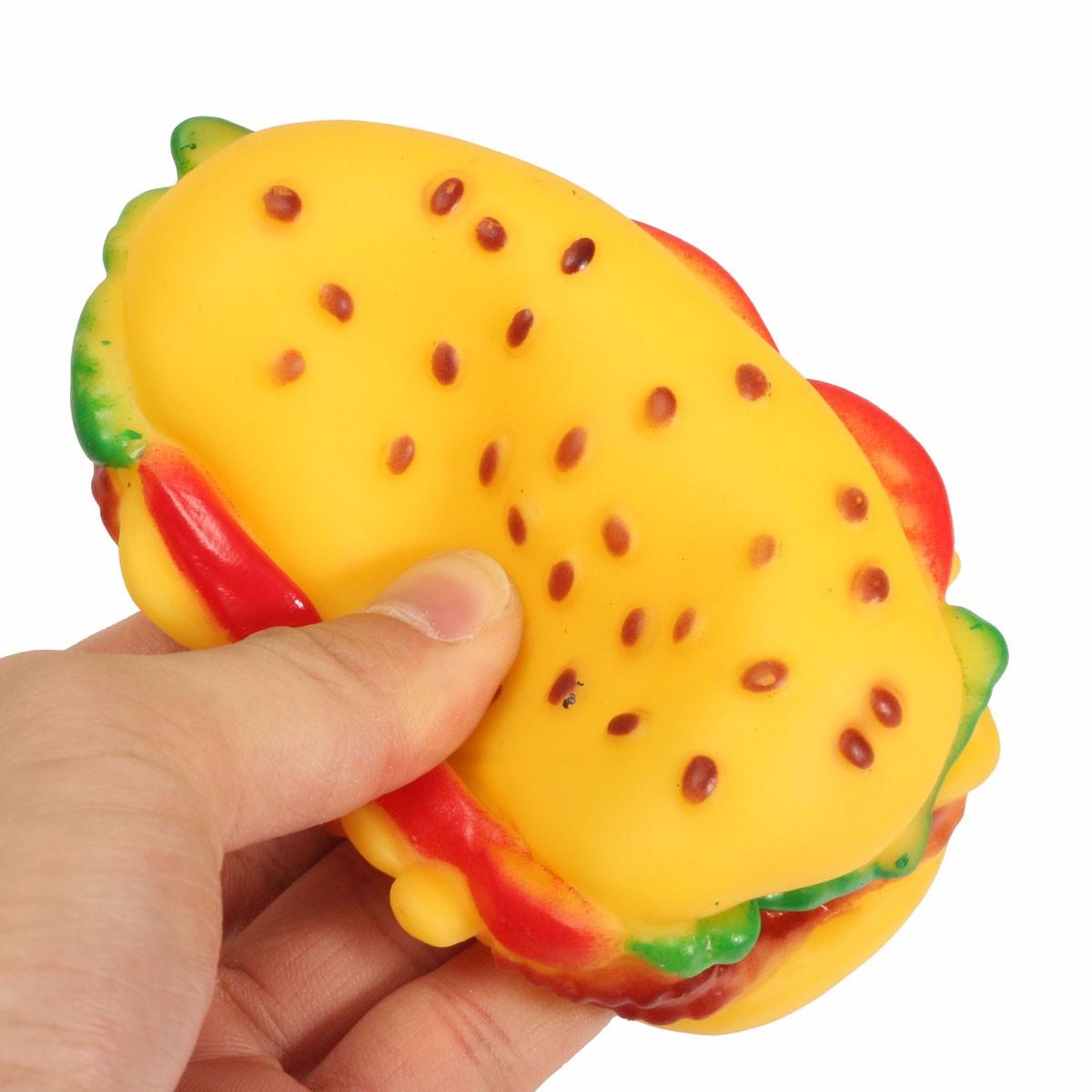 Rubber Hamburger Dog Toy