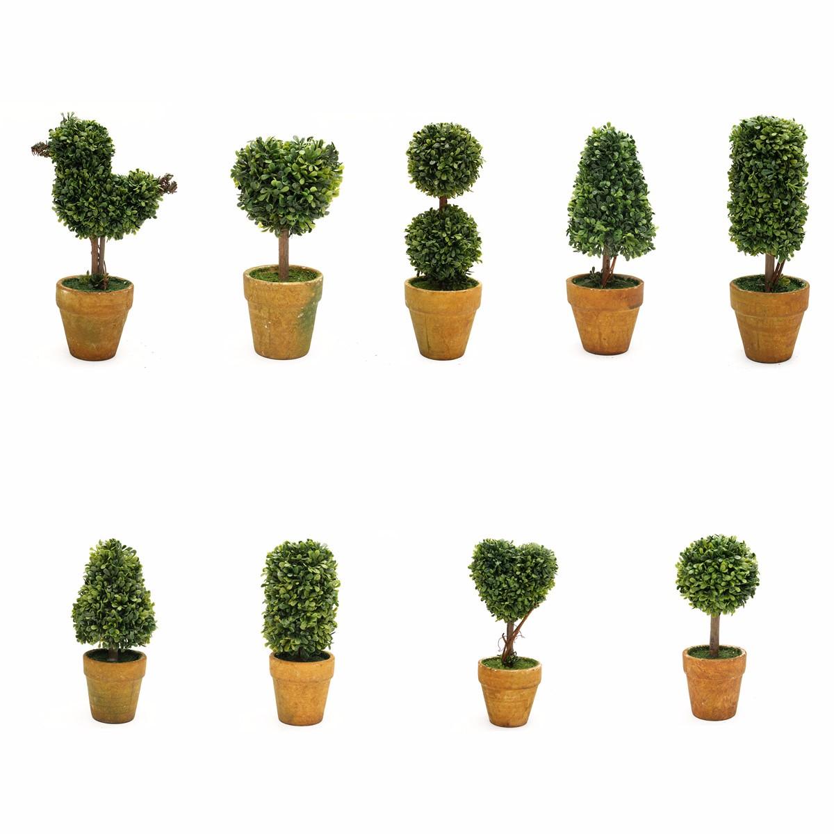 tempsa plante artificielle arbre topiaire d coration ext rieure arbuste avec pot 30cm double. Black Bedroom Furniture Sets. Home Design Ideas