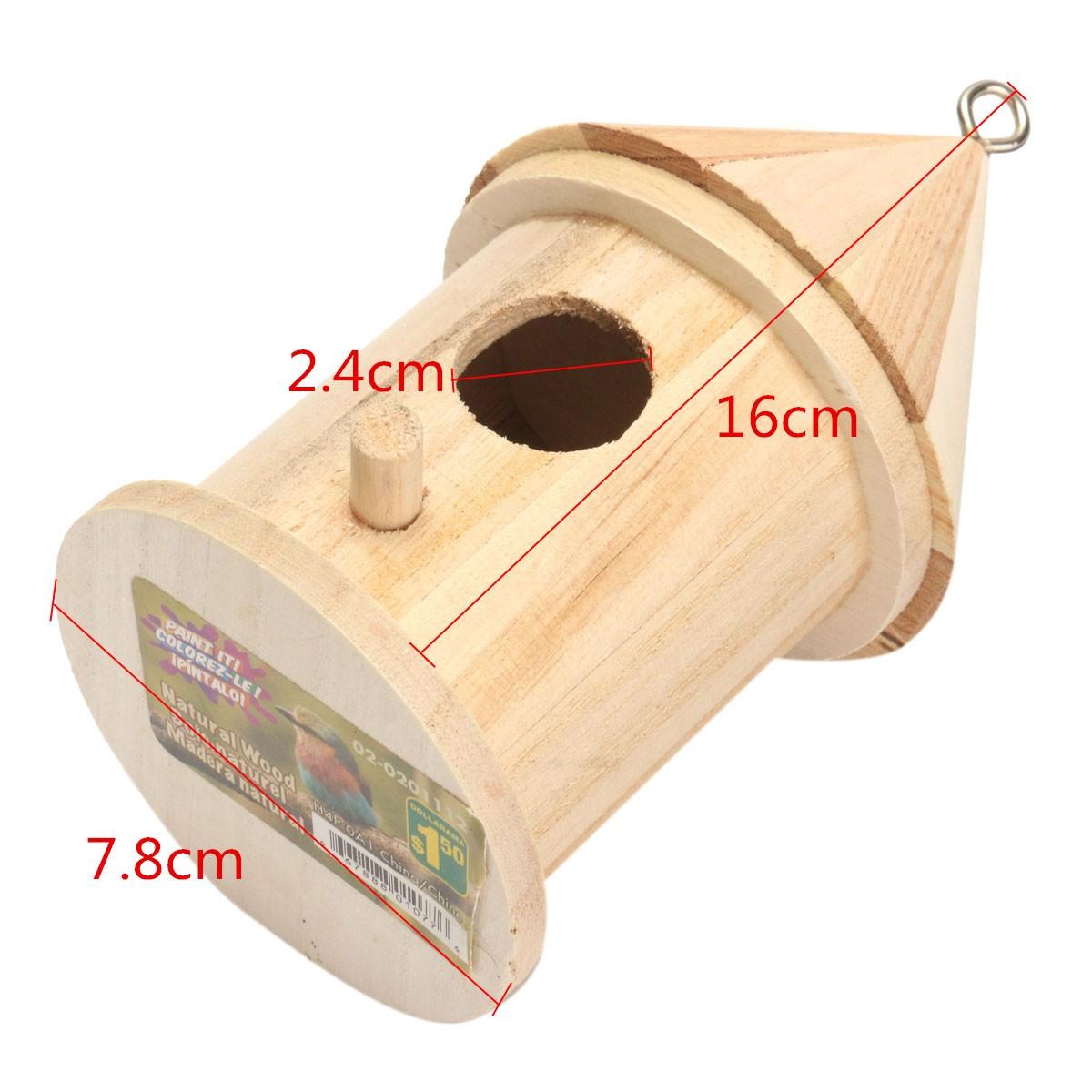 Nichoir bois oiseau pendu pour d coration maison jardin for Cendre de bois pour le jardin