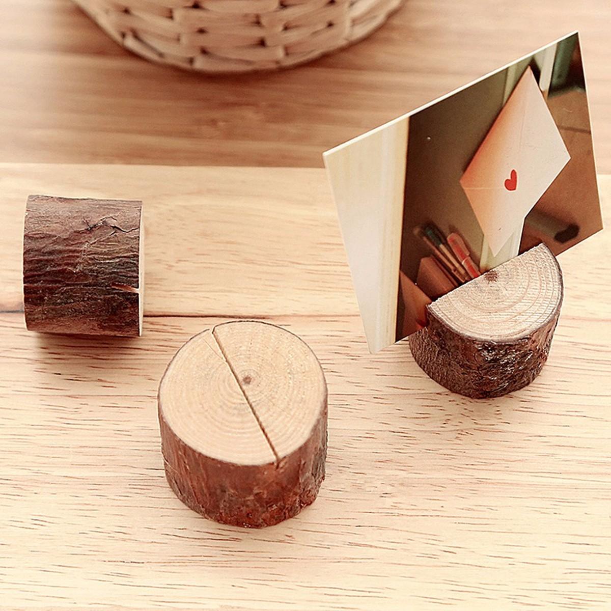 bois pince porte nom num ro carte memo mariage marque place table bureau support achat vente. Black Bedroom Furniture Sets. Home Design Ideas