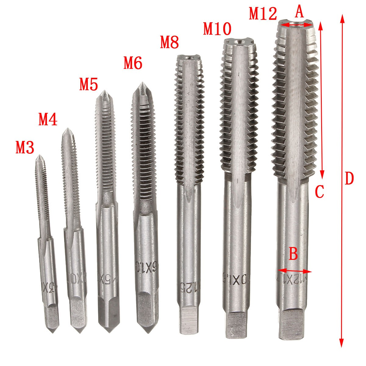M1.2 x 0.25 HSS Right Hand Thread Forming Tap