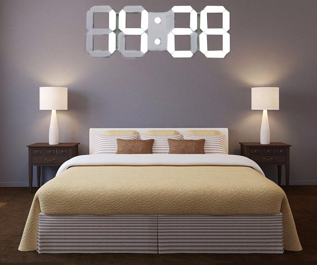 led squelette horloge murale affichage digitale eclairage 24 12