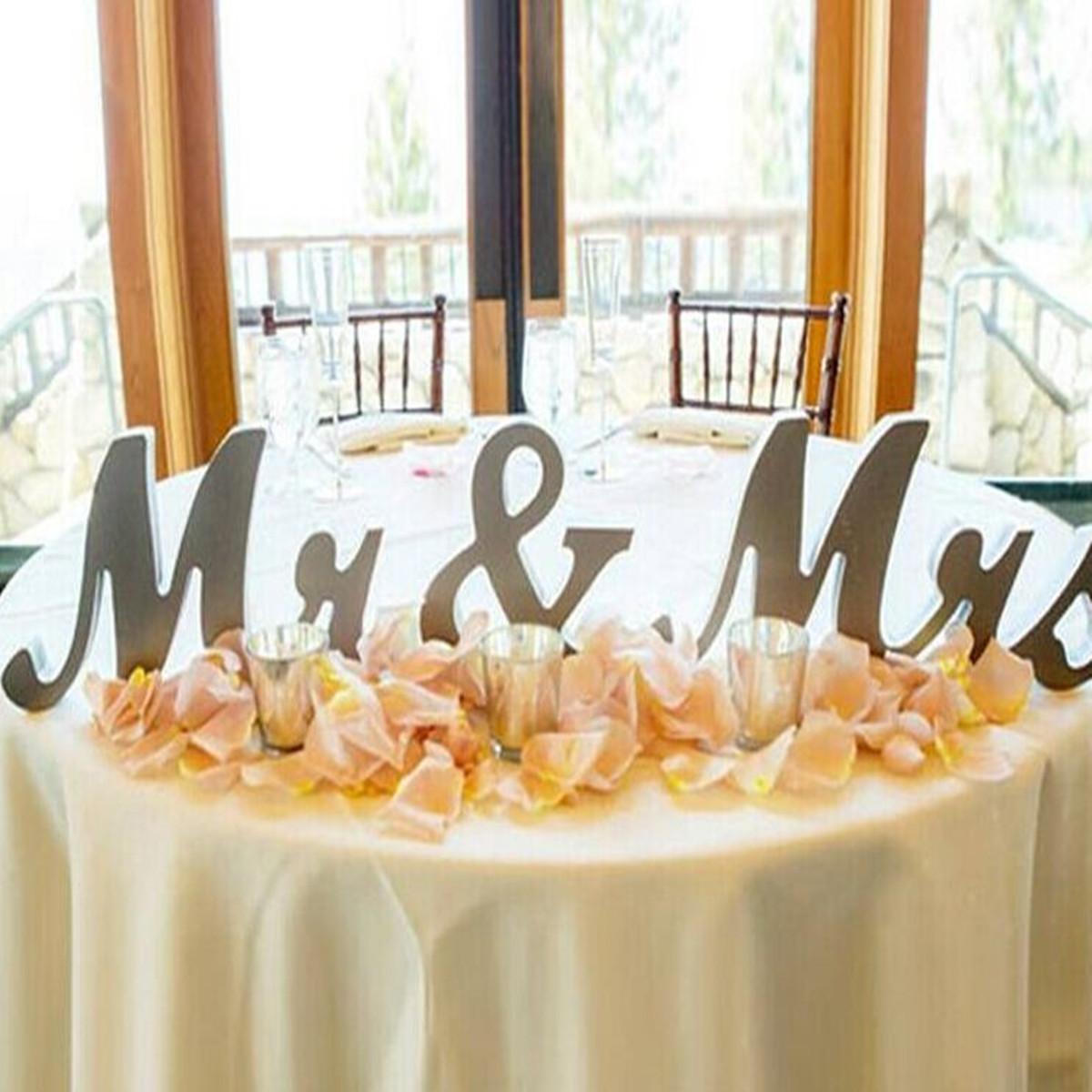 JUST MARRIED Personnalisé De Mariage Mr /& Mrs autoportante Vintage Plaque signe
