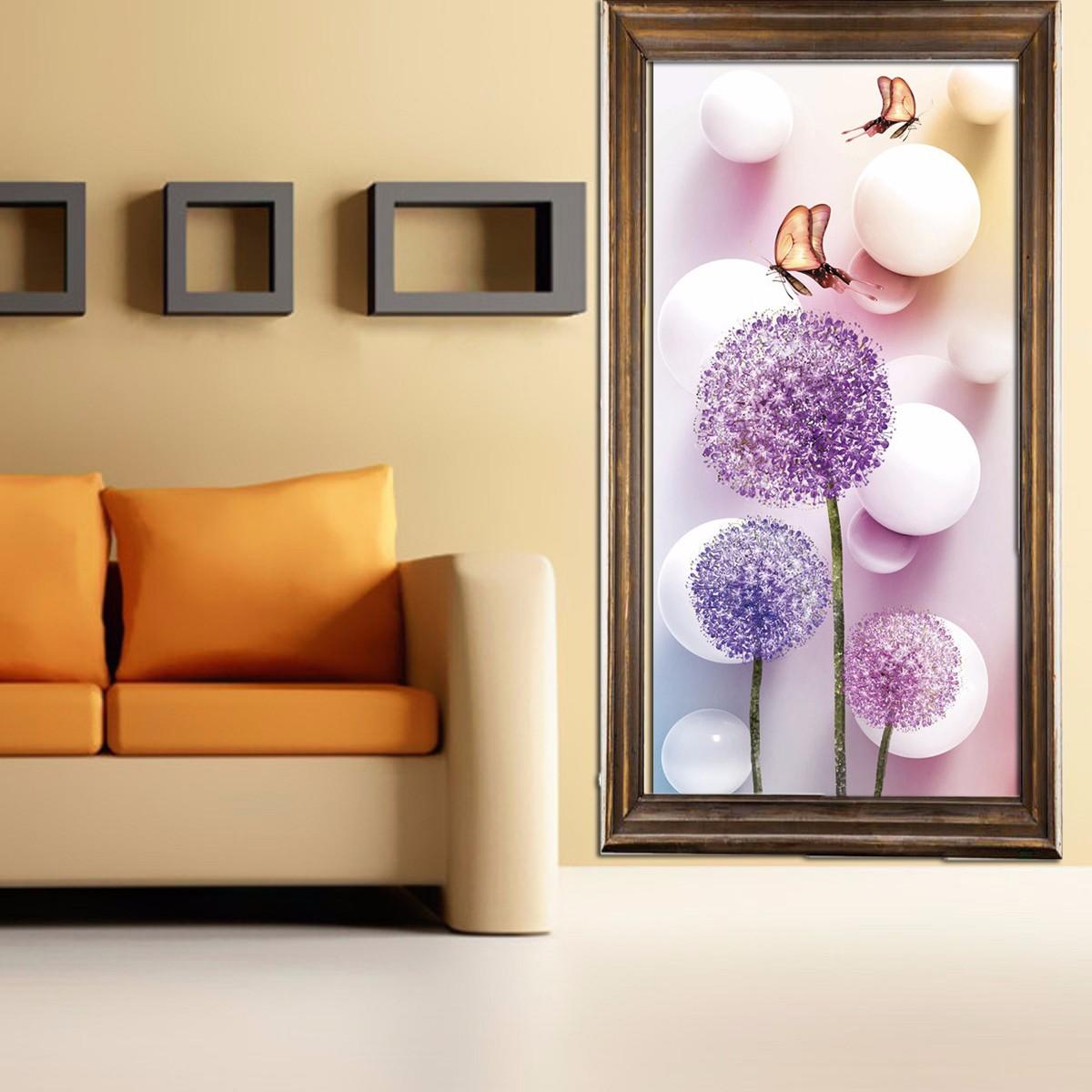 Diy 5d dandelion diamond sticker cross stitch painting for Home decor 5d