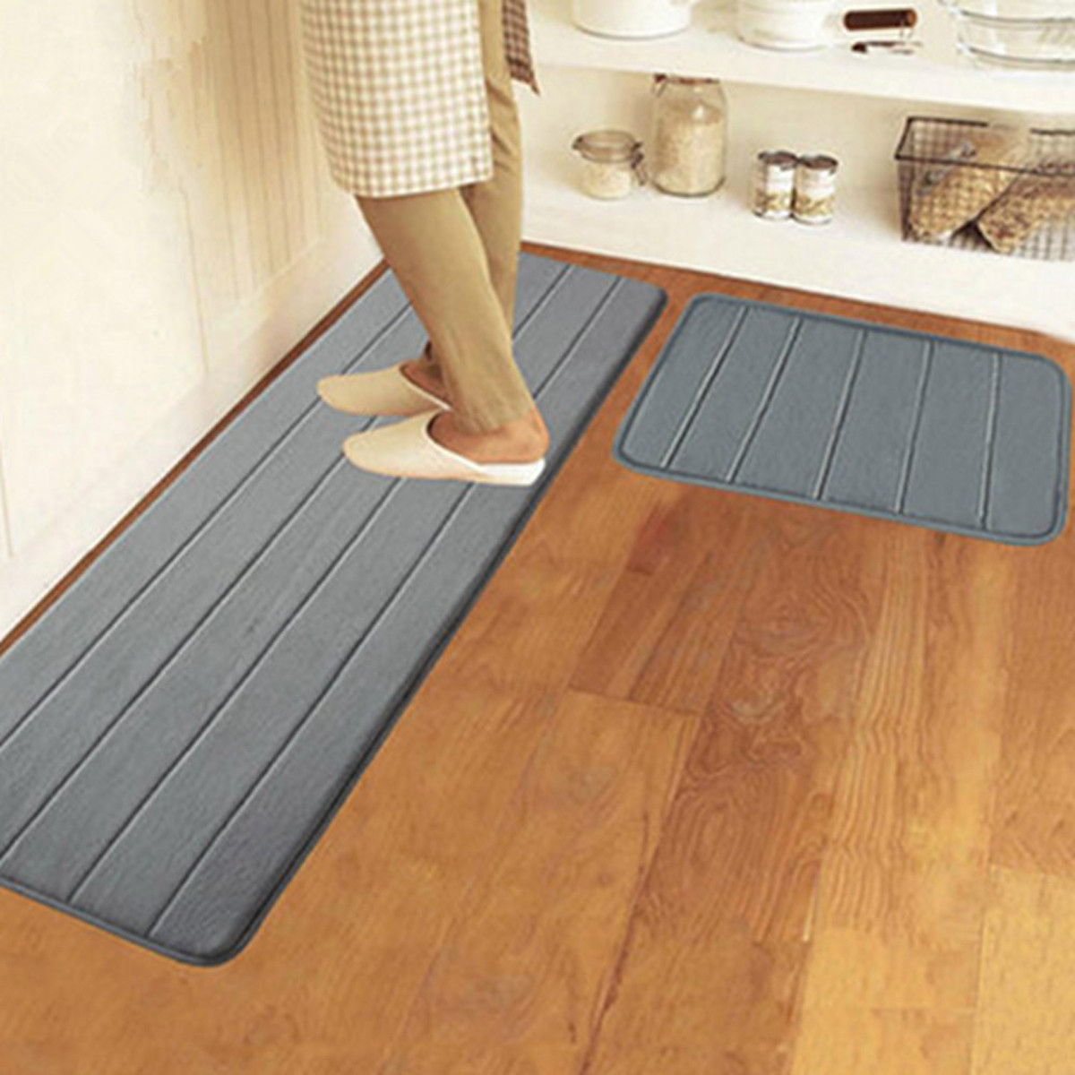 40x120cm memory foam washable bedroom floor pad non slip Washable bathroom carpet cut to fit