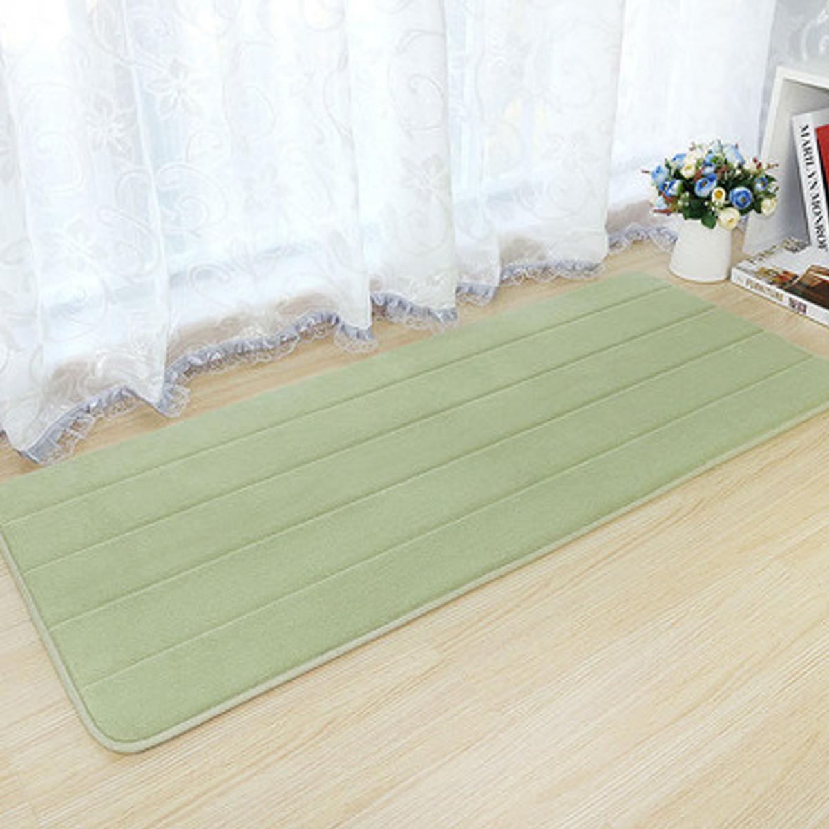 40x120cm Memory Foam Washable Bedroom Floor Pad Non Slip Bath Rug Mat Door Carpet Brown Lazada