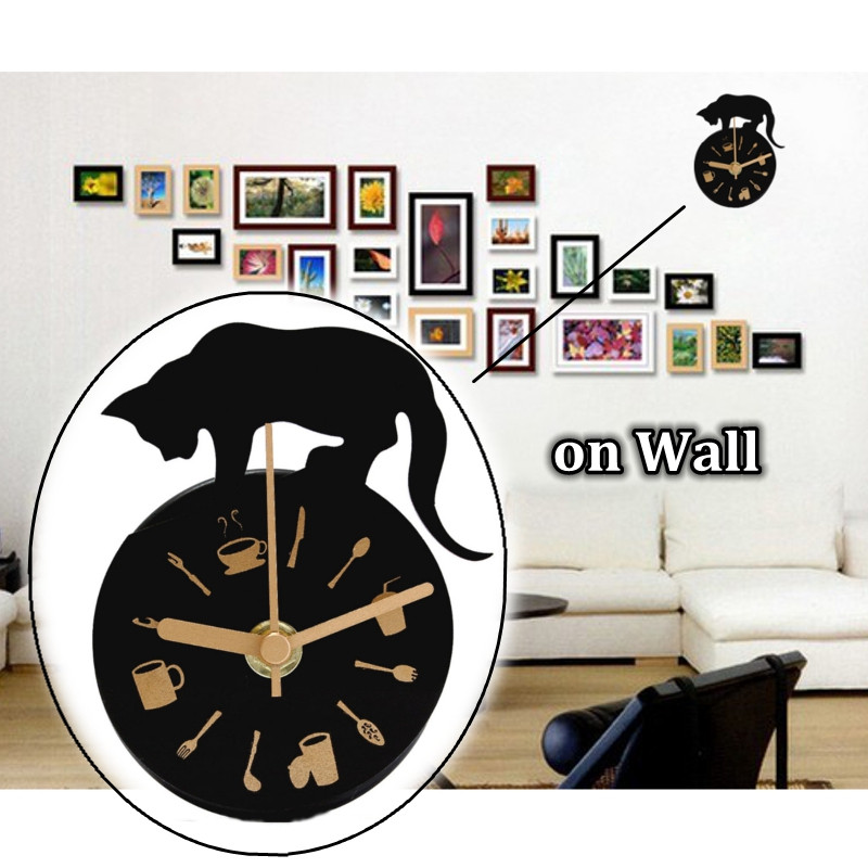 horloge murale moderne pendule montre aimant decoration pr salon