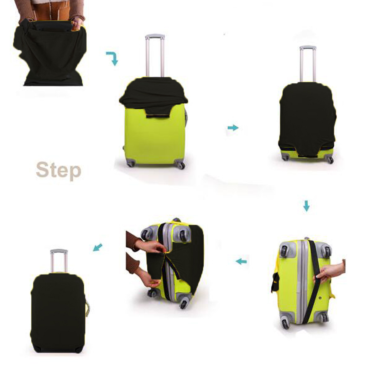 28 Travel Luggage Protector Elastic Suitcase Cover Bag