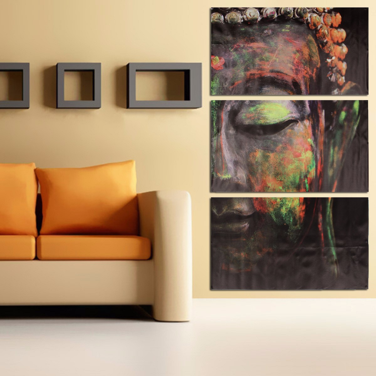 3pcs set buddha oil painting wall art picture canvas prints home decor posters lazada malaysia. Black Bedroom Furniture Sets. Home Design Ideas