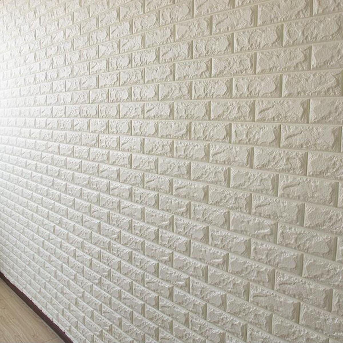 luxe 3d effet pierre mur brique textur vinyle papier peint autocollant 60x30cm achat vente. Black Bedroom Furniture Sets. Home Design Ideas