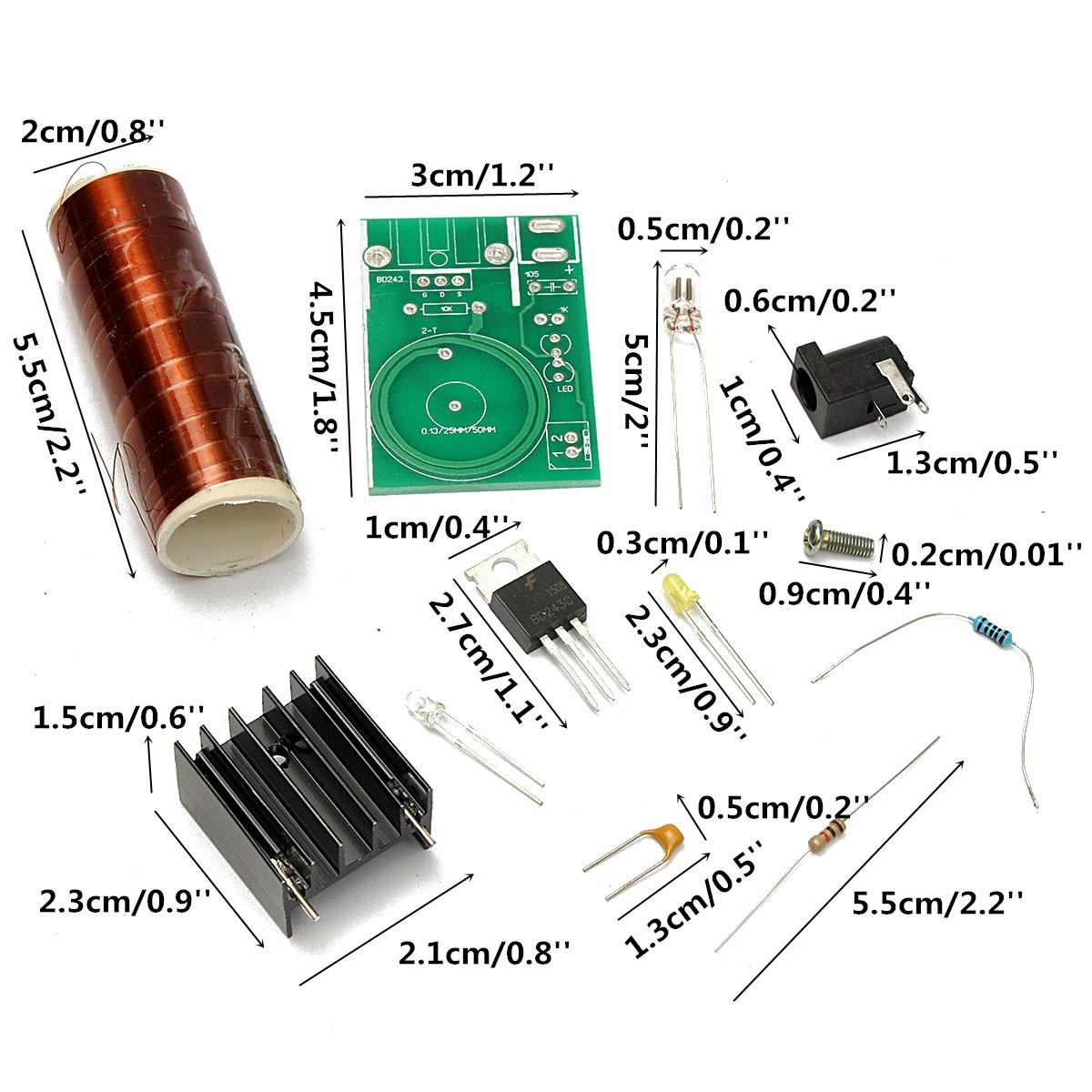 12V DC Mini DIY Tesla Coil Kit Arc Wireless Electric Power Transmission  Lighting | PrestoMall - Body Moisturisers
