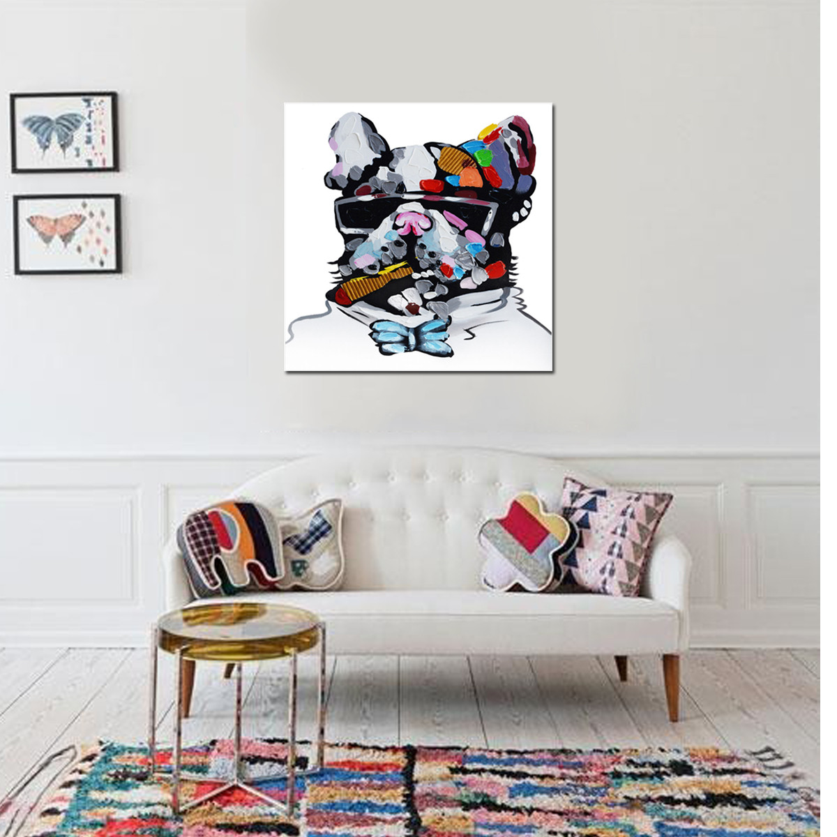 Unframed canvas prints home decor wall art abstract dog animal painting picture intl lazada - Canvas prints home decor photos ...