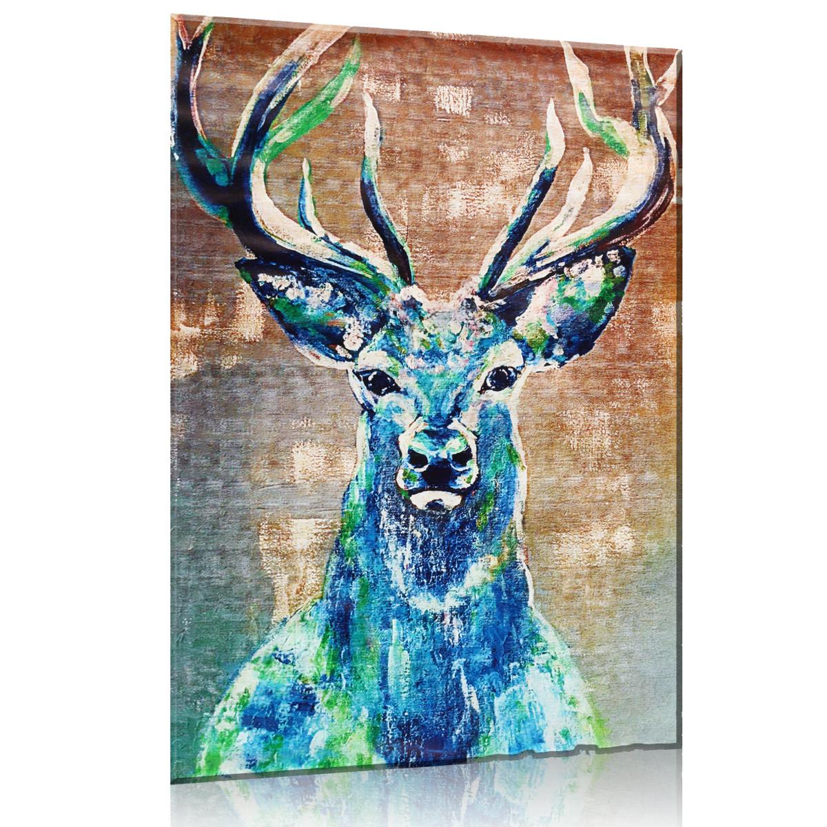 Hd Unframed Canvas Abstract Elk Deer Prints Modern Decor