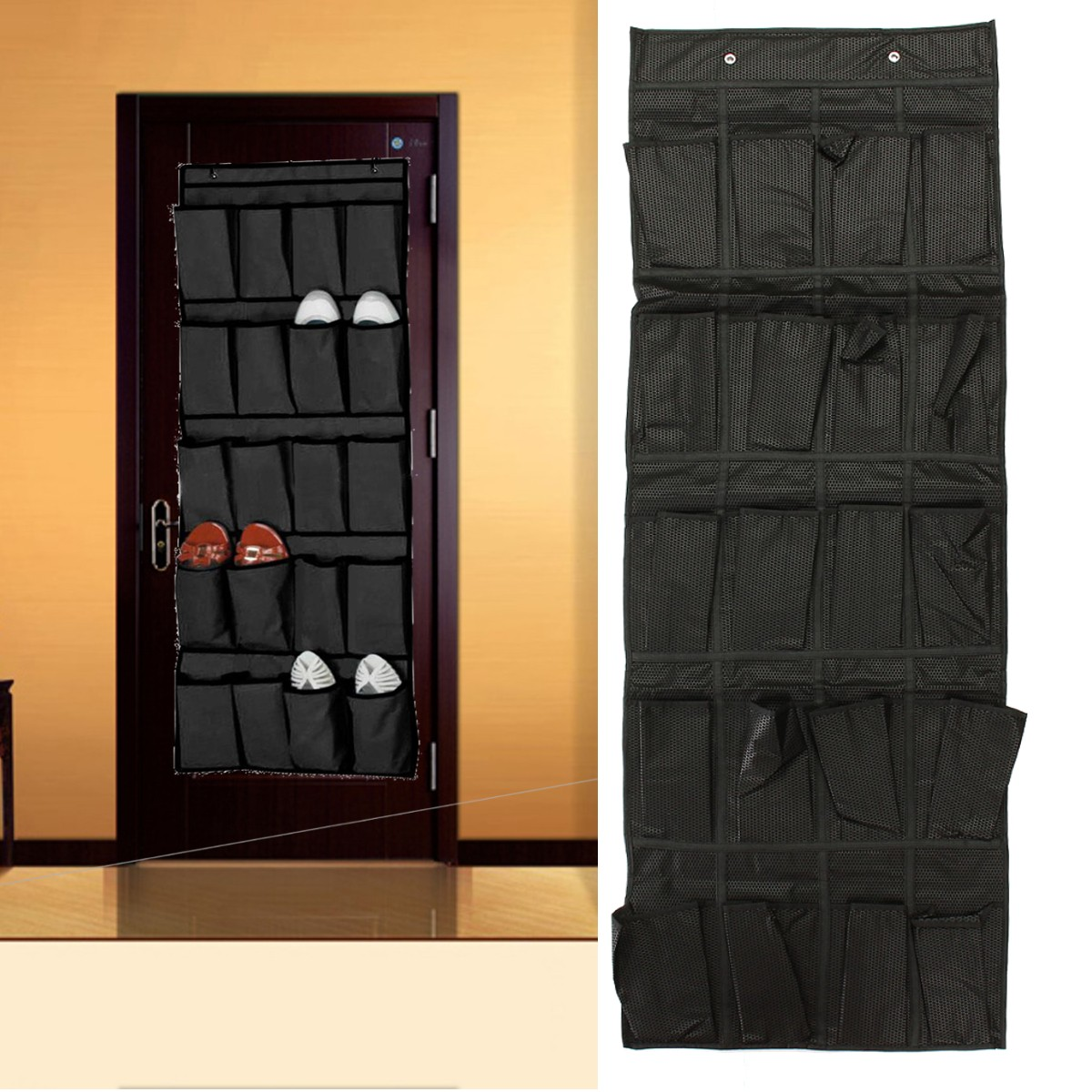 20 pockets over the door shoe organizer space saver rack for Door shoe organizer