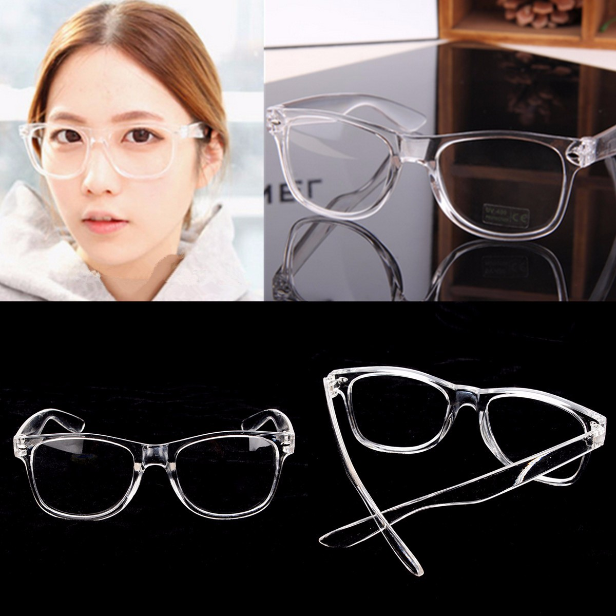 M/étal monture de lunettes sans monture Argent 1/Lot