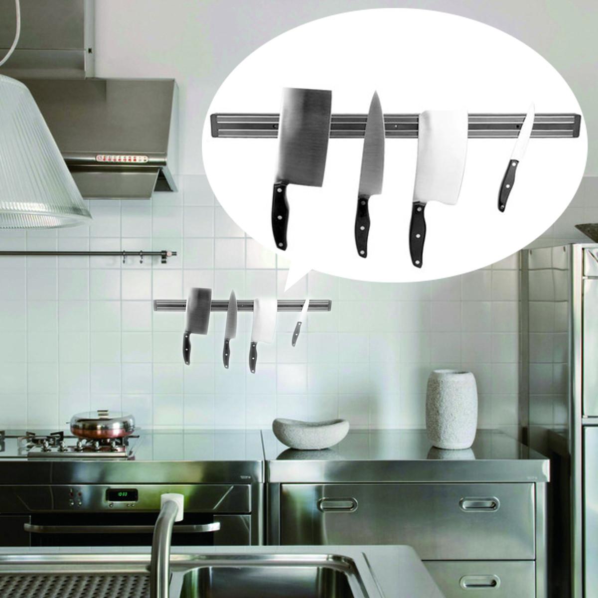 Barre magn tique porte couteaux mural support holder outil pr aimant e cuisine 550 50 16mm - Porte couteau magnetique ...