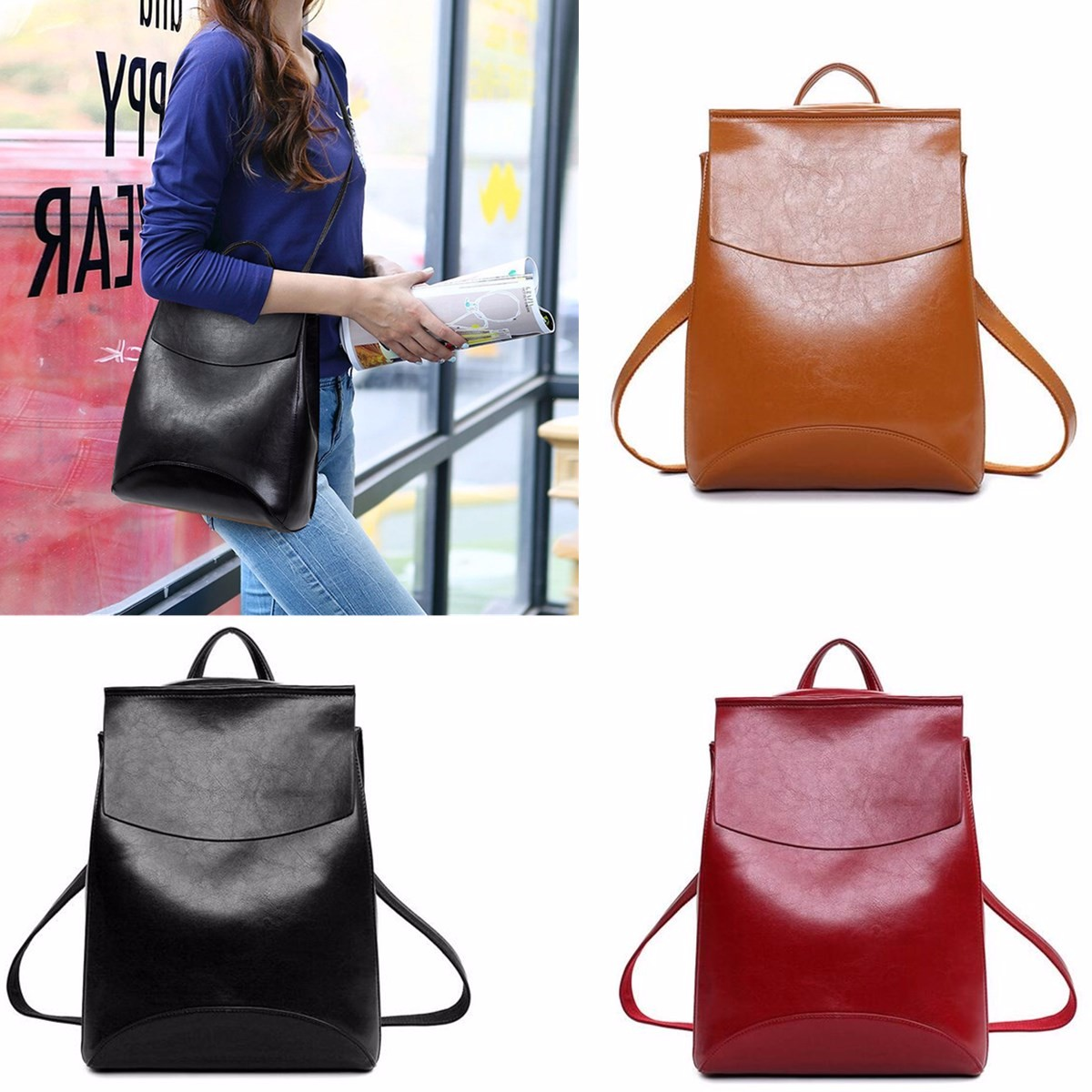Aequeen Sac À Dos Multifonctionnel Epaule Poche Voyage Pour Fille Femme uoaka9yc