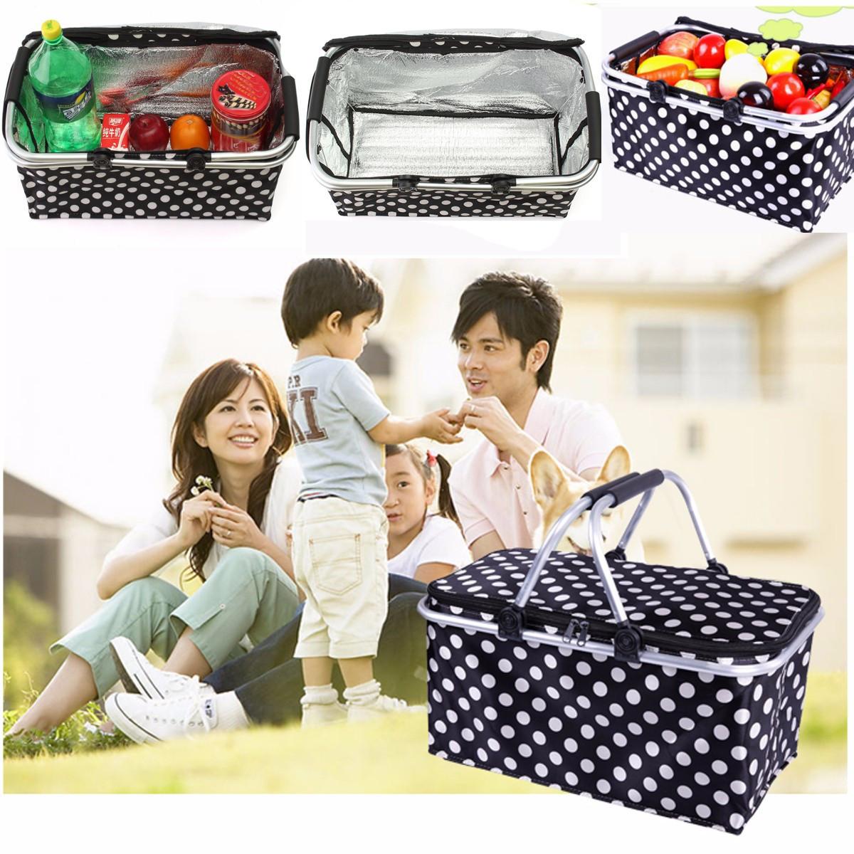 30l sac isotherme valise panier pique nique voyage camping pliable achat vente sac gouter. Black Bedroom Furniture Sets. Home Design Ideas
