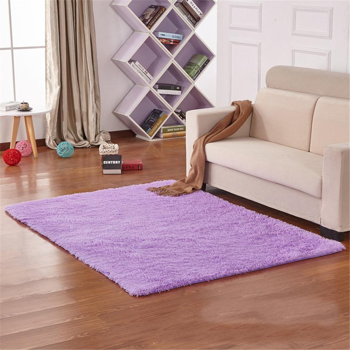 ... Anti Skid Carpet Flokati Shaggy Rug Living Bedroom Floor Mat. Source · circle round soft shaggy rug kids children living room bedro