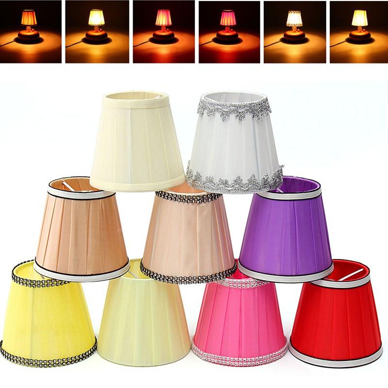 U Abat Jour Pour Lampe De Chevet Tissu Table Chambre Brun Achat